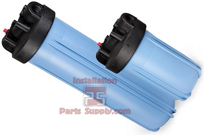 "158205 Pentek 1/2"" FPT x 20"" Blue/Black Slim Line Housing w/o Pressure Relief"