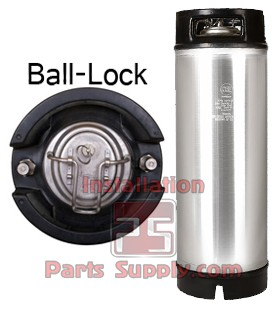 Ball-Lock Corny Keg (Pepsi) 2 Handle, 5gal, New AMCYL