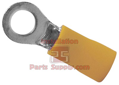 "12-10 1/4"" Ring Terminal-Yellow"