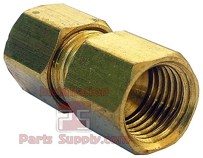 1/4 x 1/4  Female Flare x Compression Brass Light Pattern