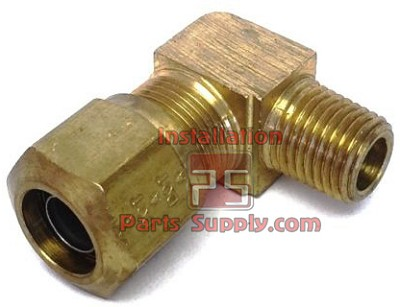 "1/2""x3/8"" DOT Compression x MPT 90° Elbow  Connector w/SS Tube Support Bar Stock NAB 
