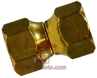 "1/2""x3/8"" Female Flare Swivel Reducer Union Brass, US4-86"