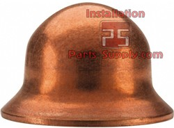 "3/8"" Bonnet Flare Cap Copper"