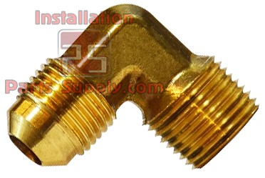 "3/8""x1/4"" Forged Flare x MPT Elbow 90° Brass 