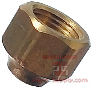 "3/8""x1/4"" Flare Nut Reducer Forged Brass"