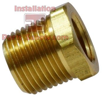 "3/8"" x 1/8"" Hex Bushing Brass MPT x FPT"