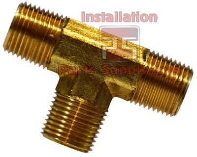 "3/8""x3/8""x3/8"" MPT Tee Brass Male Pipe Tee"