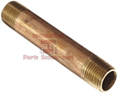 "3/8""x3"" Male Pipe Nipple Red Brass 