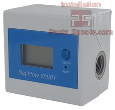 "DigiFlow 8000T, Gallon Water Flow Meter / Totalizer, 3/8"" FPT"