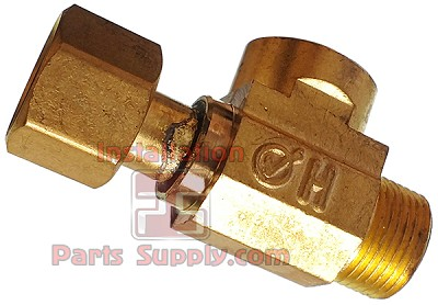 "3/8"" Female Compression x 3/8"" Compression x 1/4"" FPT Outlet Brass Max Adapter"