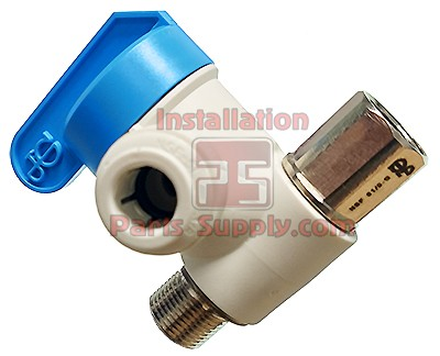 "3/8""x3/8""x1/4"" Angle Stop Valve Compression x SpeedFit John Guest"
