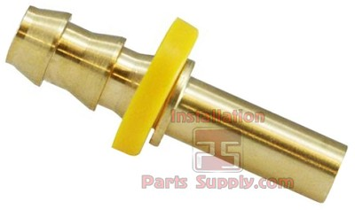 "3/8""x3/8"" (.375) Barb x Tube Compression Shank Adapter Brass - LF Brass"
