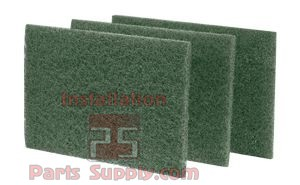 Medium Duty 6x9x0.03 Scouring Pad for coffee pots, counter tops, etc.