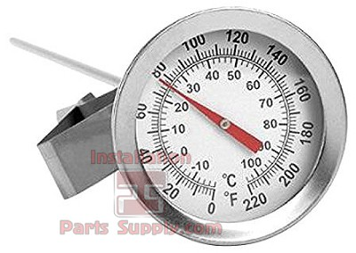 "0-220° Pocket Thermometer 2.25"" Face x 12"" Probe"