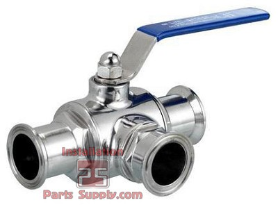 "1.5"" Ball Valve 3way 304SS Clamp End Sanitary Fittings"