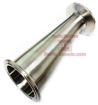 "2.5""-1.5"" Eccentric Reducer 304SS Sanitary Fittings"
