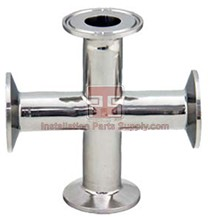 "1.0"" Clamp Cross 304SS Sanitary Fittings"