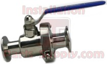 "2.0"" Ball Valve Quick Clean 304ss Clamp End Sanitary"