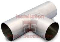 "T316 1.5"" Long Weld Tee 7W Sanitary"