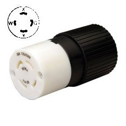 30A,125/250V 3P4W Twist Lock Connector NEMA L14-30R