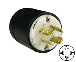 20A 250V 3P 4W Grounding Twist Lock Plug